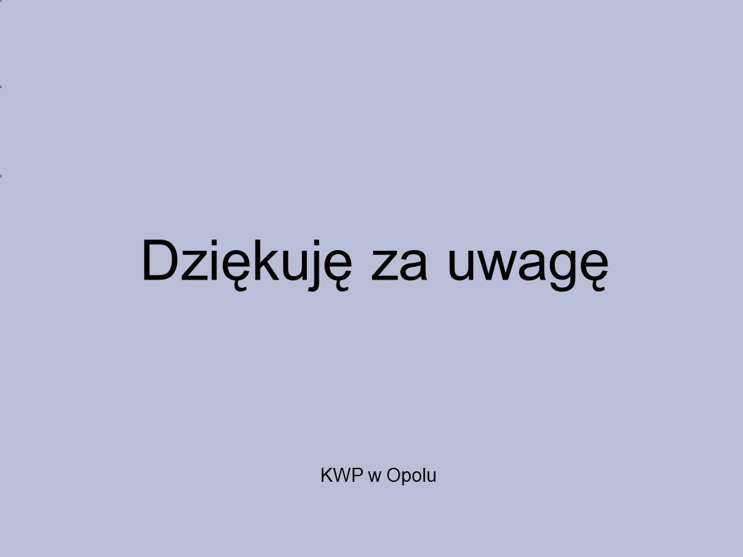 Dziękuję za uwagę KWP w Opolu