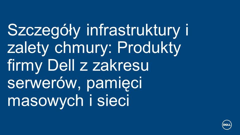 Szczegóły infrastruktury i zalety chmury: Produkty firmy Dell z zakresu serwerów, pamięci masowych i sieci
