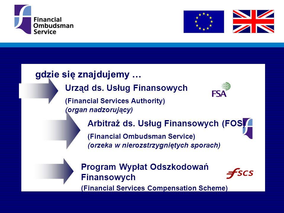Urząd ds. Usług Finansowych (Financial Services Authority) (organ nadzorujący) Arbitraż ds.