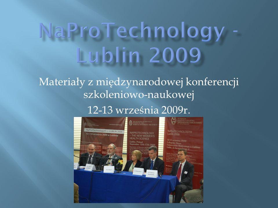 Materiały z międzynarodowej konferencji szkoleniowo-naukowej 12-13 września 2009r.