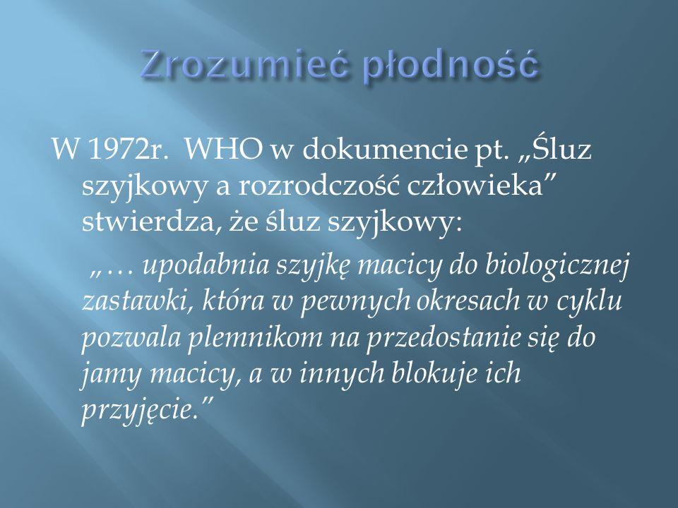 W 1972r. WHO w dokumencie pt.