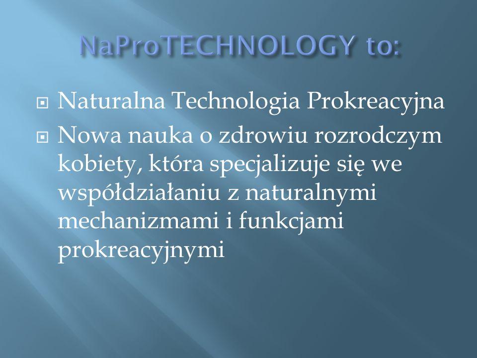  Naturalna Technologia Prokreacyjna  Nowa nauka o zdrowiu rozrodczym kobiety, która specjalizuje się we współdziałaniu z naturalnymi mechanizmami i funkcjami prokreacyjnymi