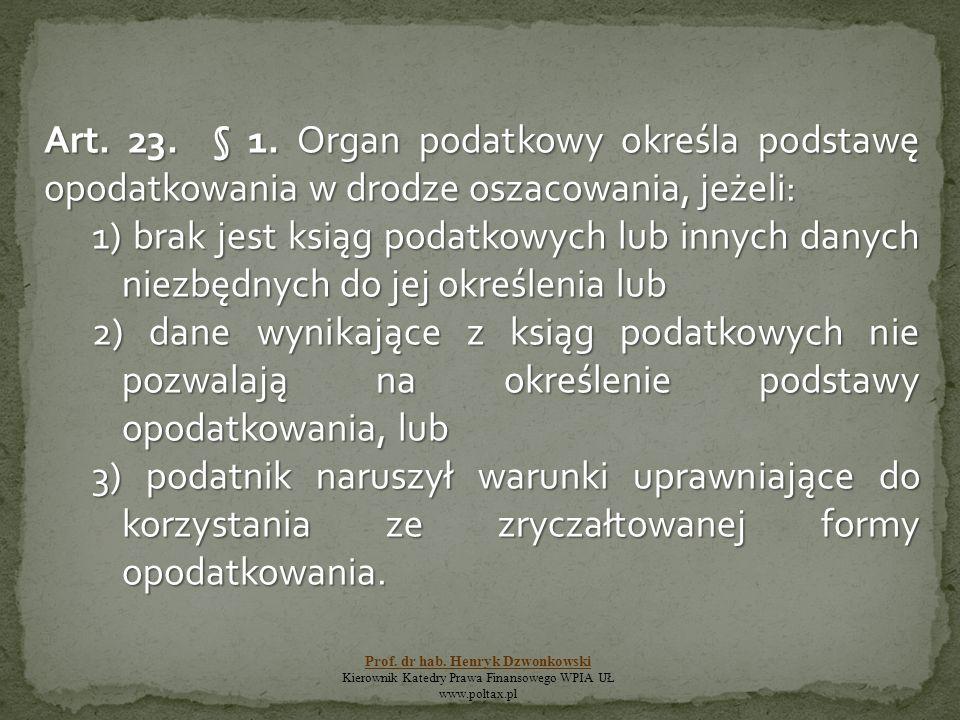 Art. 23. § 1.