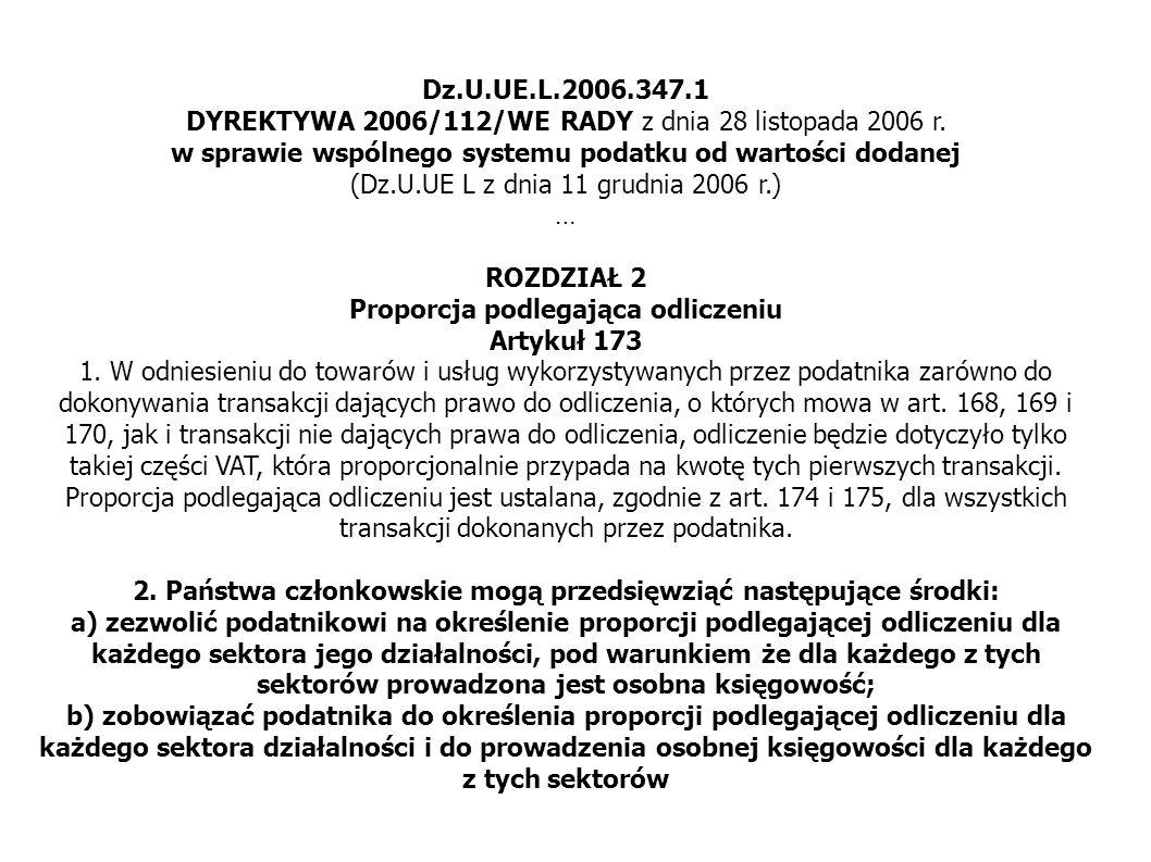 Dz.U.UE.L.2006.347.1 DYREKTYWA 2006/112/WE RADY z dnia 28 listopada 2006 r.