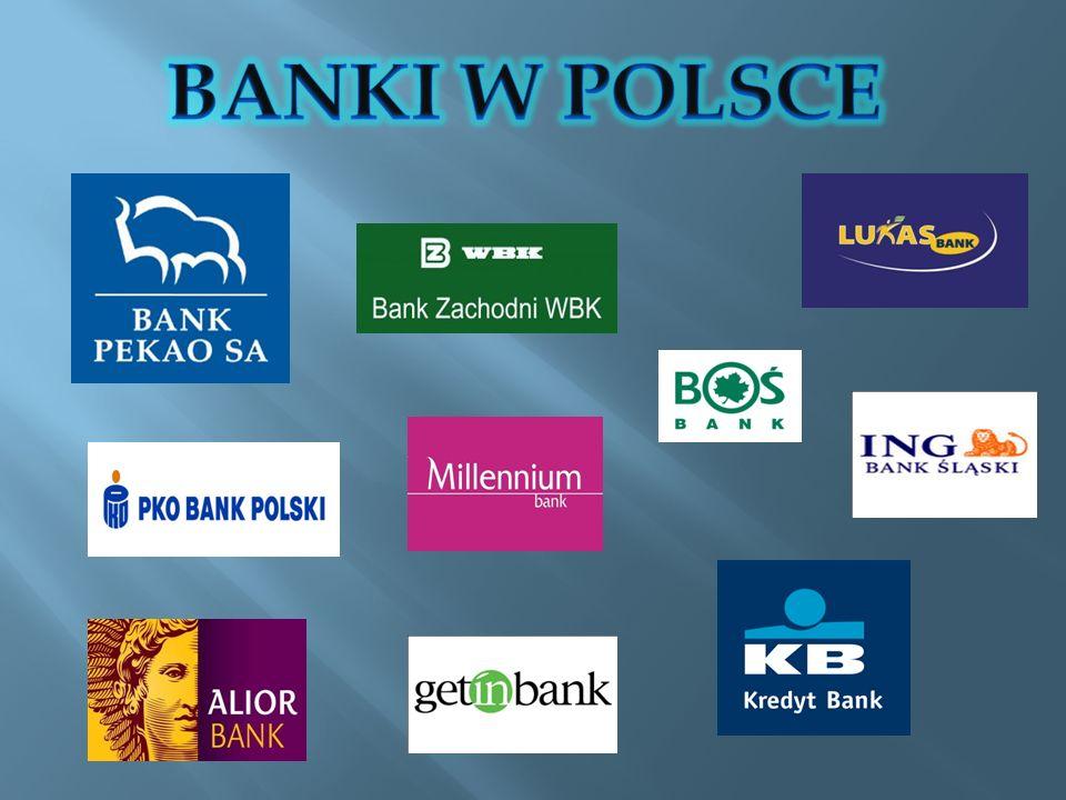 Usługi czynne (aktywne) Usługi bierne (pasywne) Usługi pośredniczące Inne usługi bankowe Polegają na lokowaniu zgromadzonych funduszy w różnego rodzaju korzystne przedsięwzięcia, głównie kredyty.