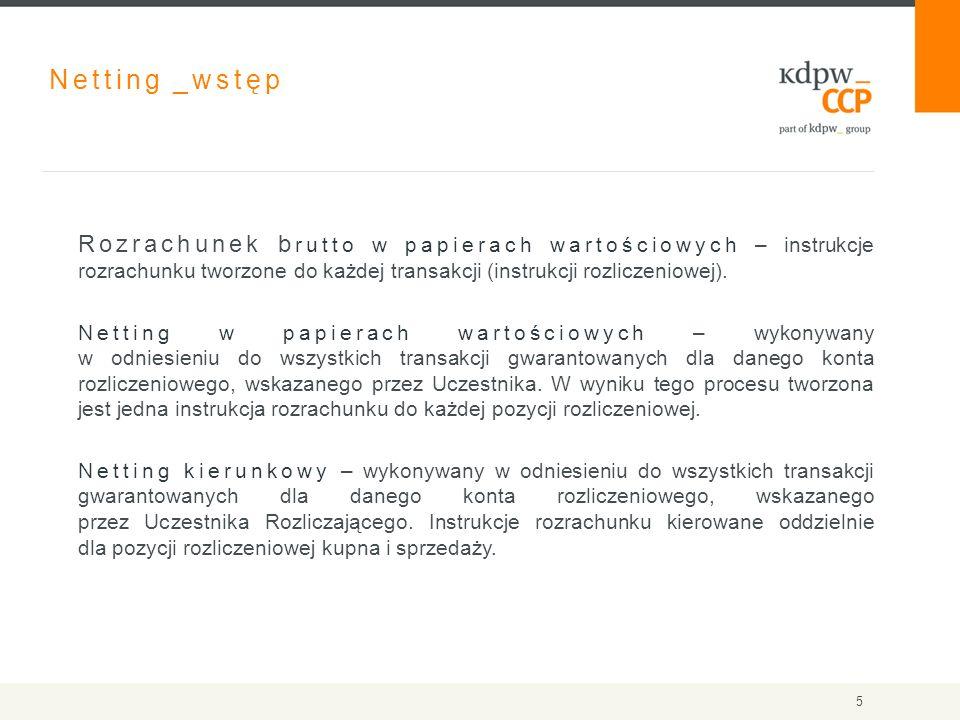 Netting _wstęp Rozrachunek b rutto w papierach wartościowych – instrukcje rozrachunku tworzone do każdej transakcji (instrukcji rozliczeniowej).