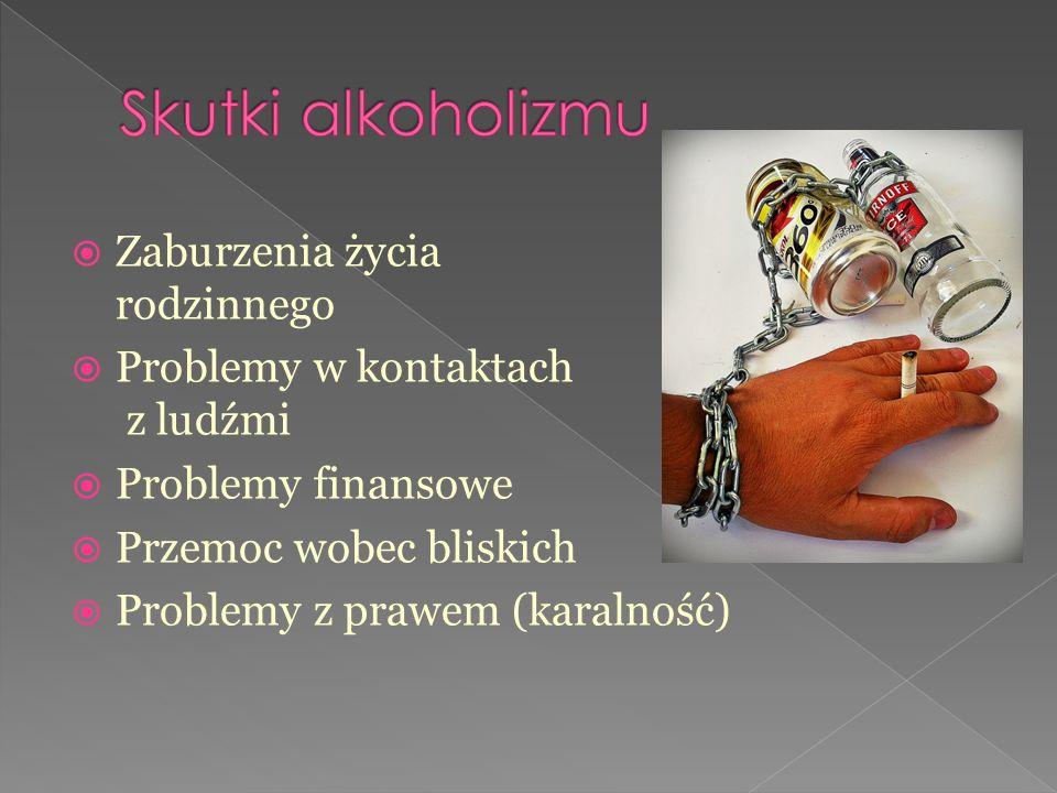  Zaburzenia życia rodzinnego  Problemy w kontaktach z ludźmi  Problemy finansowe  Przemoc wobec bliskich  Problemy z prawem (karalność)