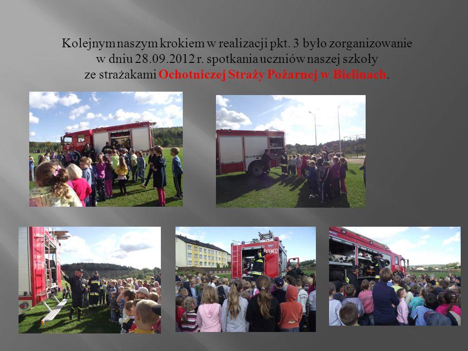 Kolejnym naszym krokiem w realizacji pkt. 3 było zorganizowanie w dniu 28.09.2012 r.