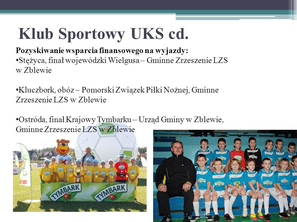 Klub Sportowy UKS cd.