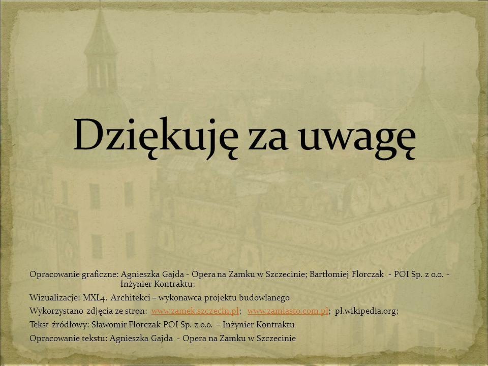 Opracowanie graficzne: Agnieszka Gajda - Opera na Zamku w Szczecinie; Bartłomiej Florczak - POI Sp.