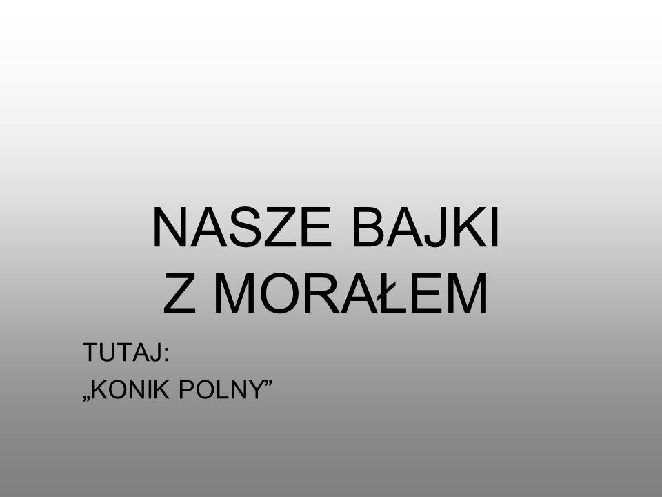 """NASZE BAJKI Z MORAŁEM TUTAJ: """"KONIK POLNY"""