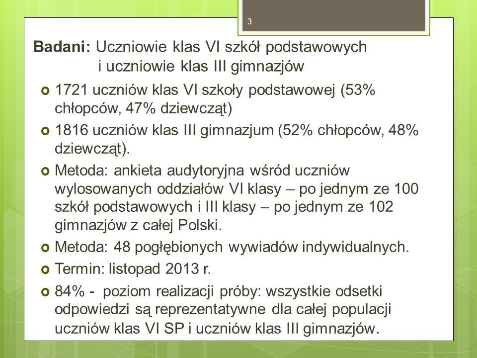 Sytuacje czytelnicze uczniów 3.Czytanie w ramach obowiązku szkolnego, określanego wymogami programu szkolnego i oczekiwaniami formułowanymi przez nauczyciela, aspiracjami edukacyjnymi i stosunkiem ucznia do lekcji języka polskiego.