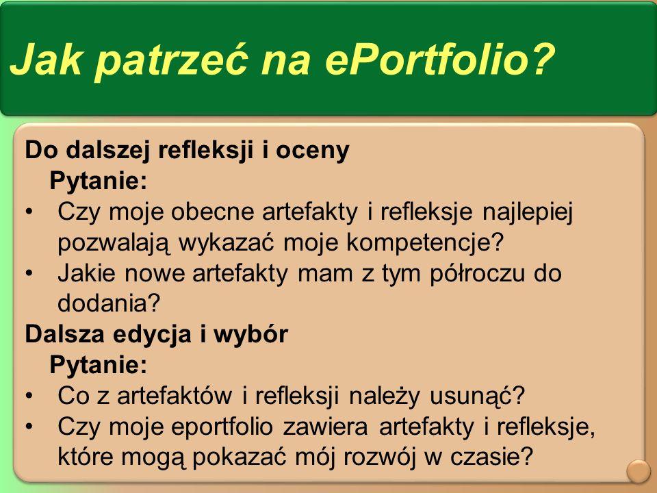 Jak patrzeć na ePortfolio.