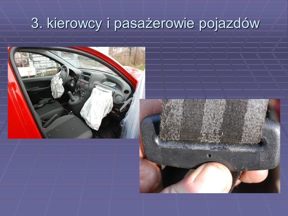 3. kierowcy i pasażerowie pojazdów