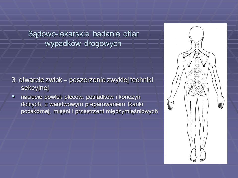 Sądowo-lekarskie badanie ofiar wypadków drogowych 3.