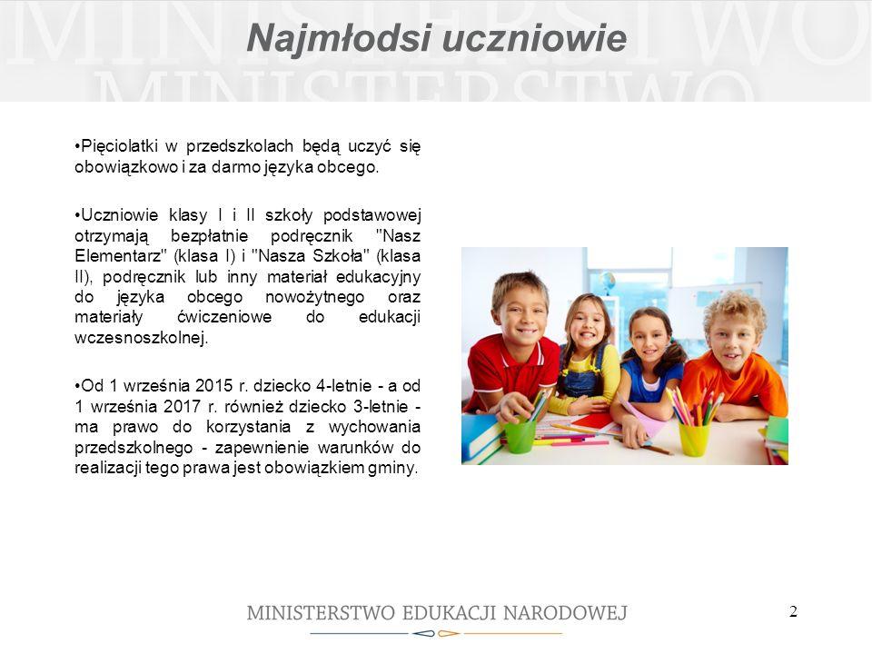 Najmłodsi uczniowie Pięciolatki w przedszkolach będą uczyć się obowiązkowo i za darmo języka obcego.