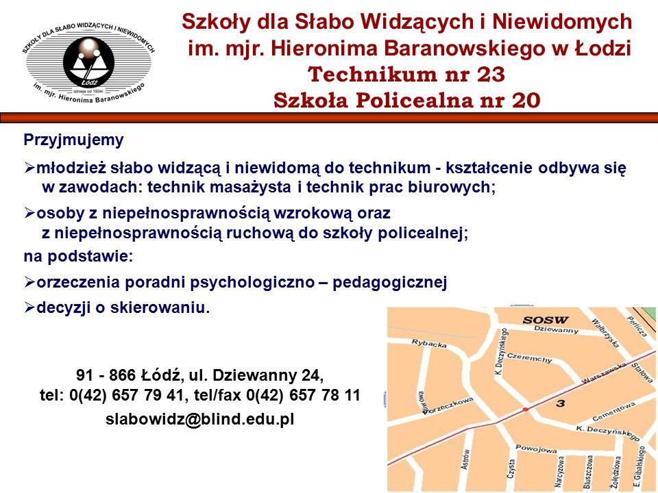 Szkoły dla Słabo Widzących i Niewidomych im. mjr.