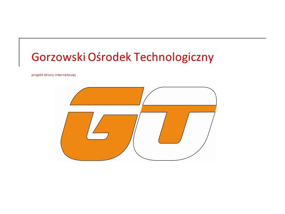 Gorzowski Ośrodek Technologiczny projekt strony internetowej