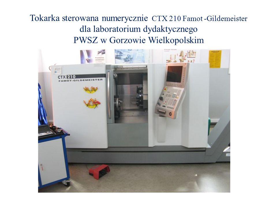 Tokarka sterowana numerycznie CTX 210 Famot -Gildemeister dla laboratorium dydaktycznego PWSZ w Gorzowie Wielkopolskim