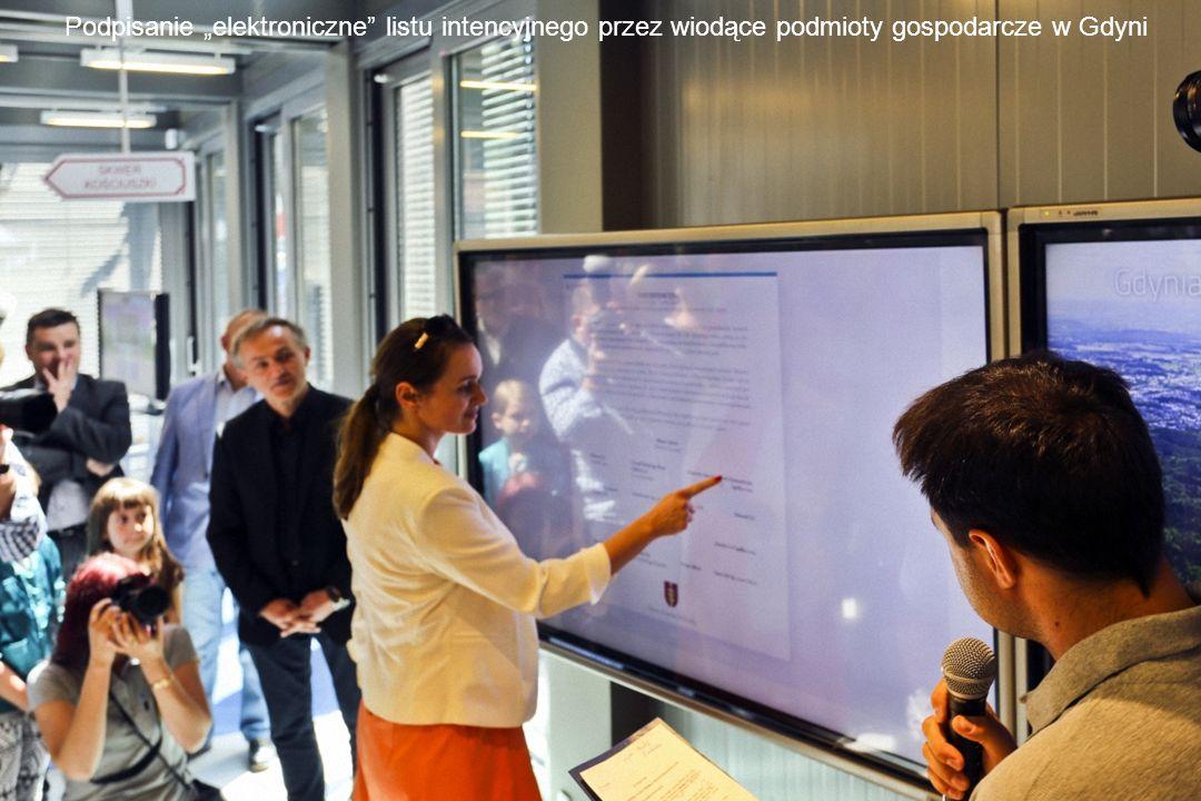 """Podpisanie """"elektroniczne listu intencyjnego przez wiodące podmioty gospodarcze w Gdyni"""