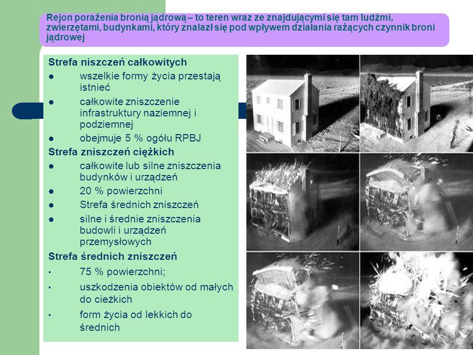 Zjawiska towarzyszące wybuchowi błysk wybuchu jądrowego – promieniowanie świetlne – trwałe porażenie wzroku ognista kula- materia zamieniona w plazmę