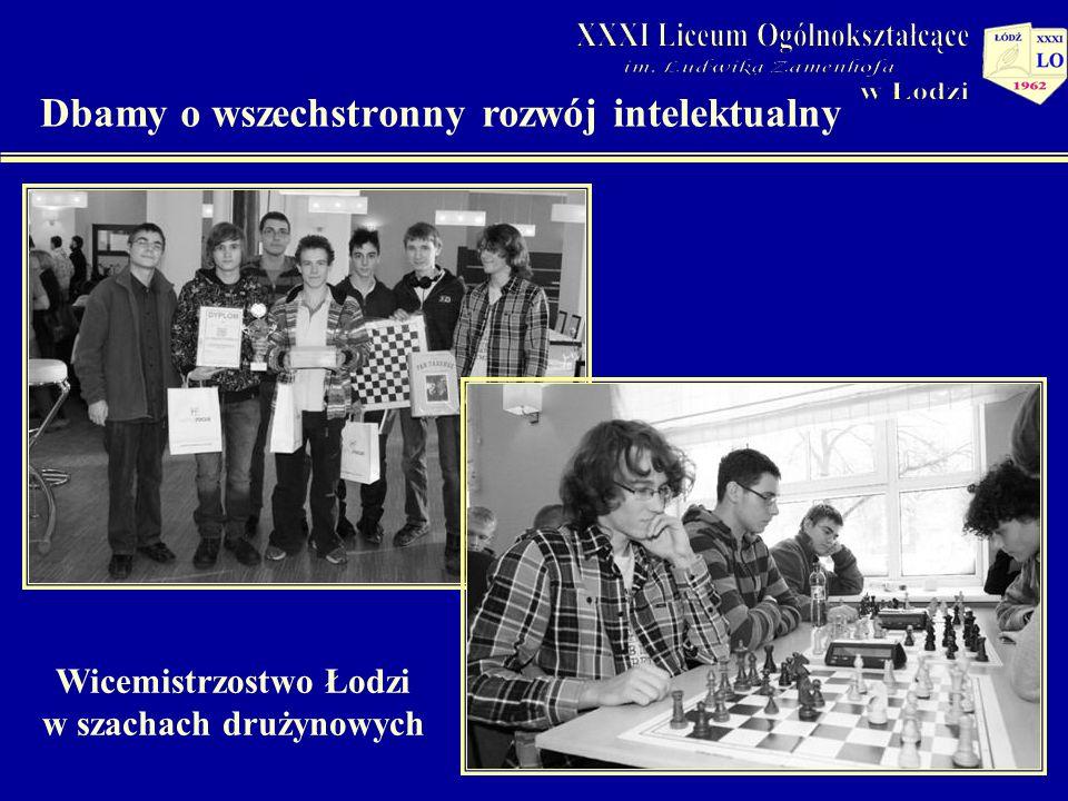 Dbamy o wszechstronny rozwój intelektualny Wicemistrzostwo Łodzi w szachach drużynowych