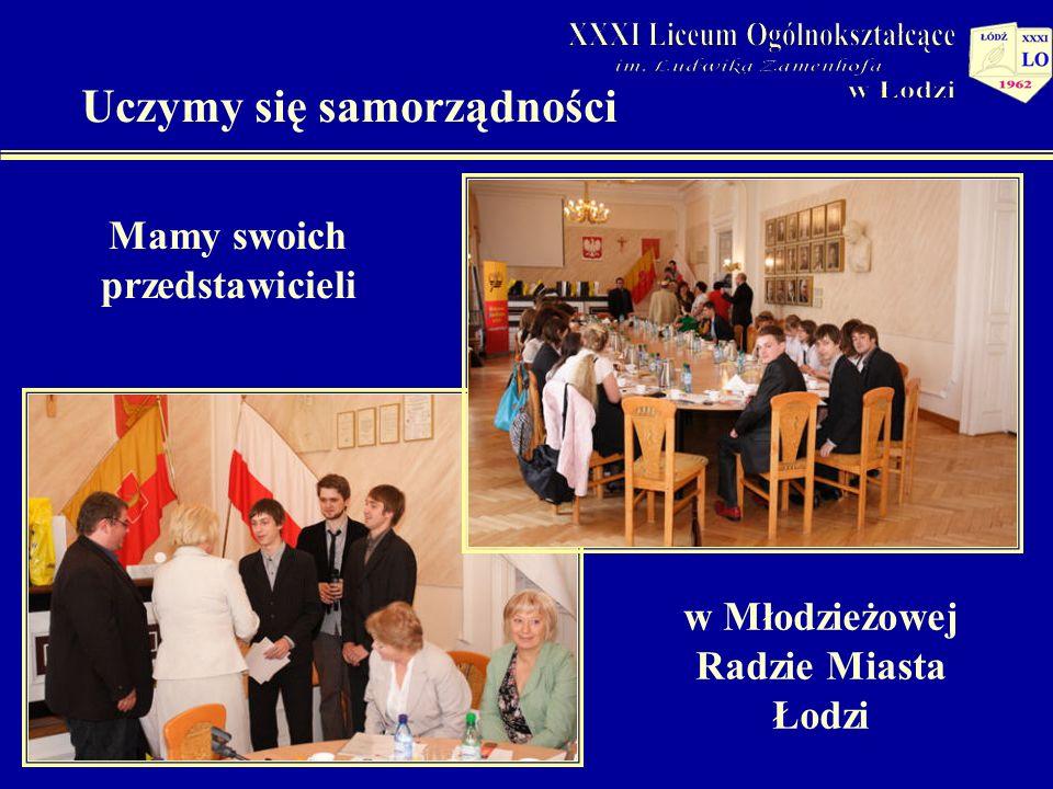 Uczymy się samorządności Mamy swoich przedstawicieli w Młodzieżowej Radzie Miasta Łodzi