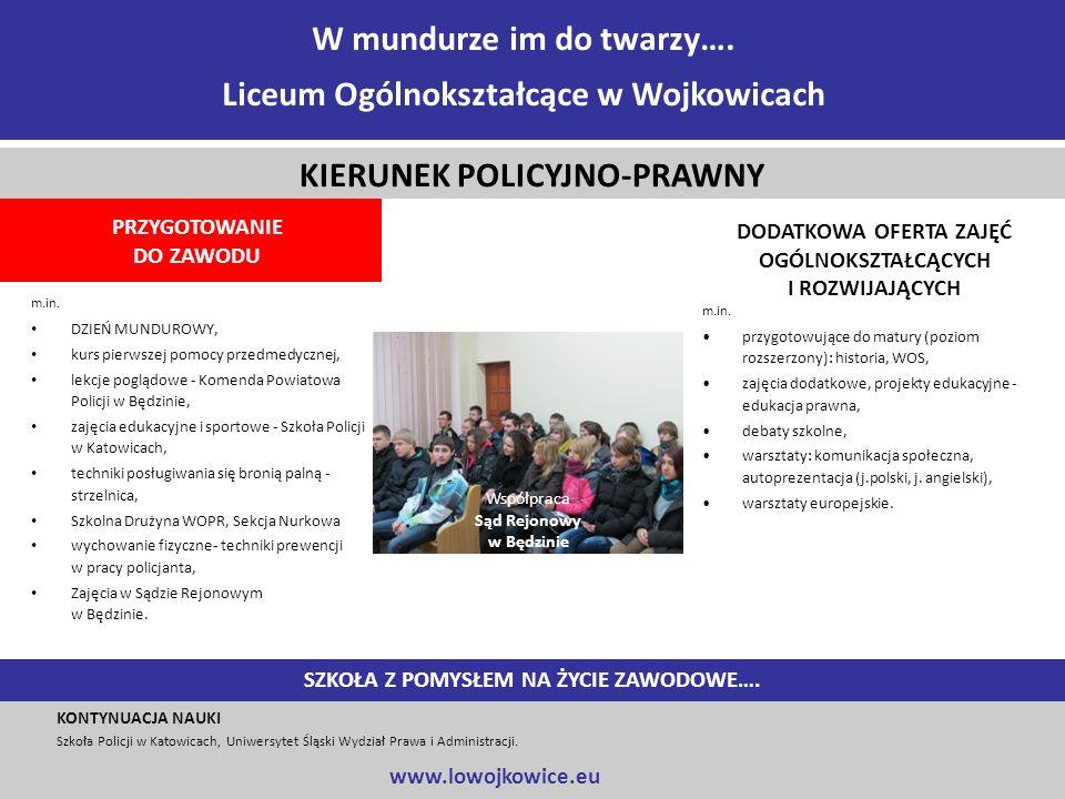 m.in. DZIEŃ MUNDUROWY, kurs pierwszej pomocy przedmedycznej, lekcje poglądowe - Komenda Powiatowa Policji w Będzinie, zajęcia edukacyjne i sportowe -