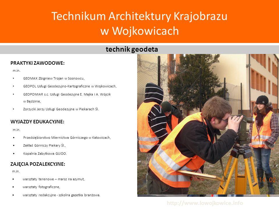Technikum Architektury Krajobrazu w Wojkowicach m.in. GEOMAX Zbigniew Trojan w Sosnowcu, GEOPOL Usługi Geodezyjno-Kartograficzne w Wojkowicach, GEOPOM