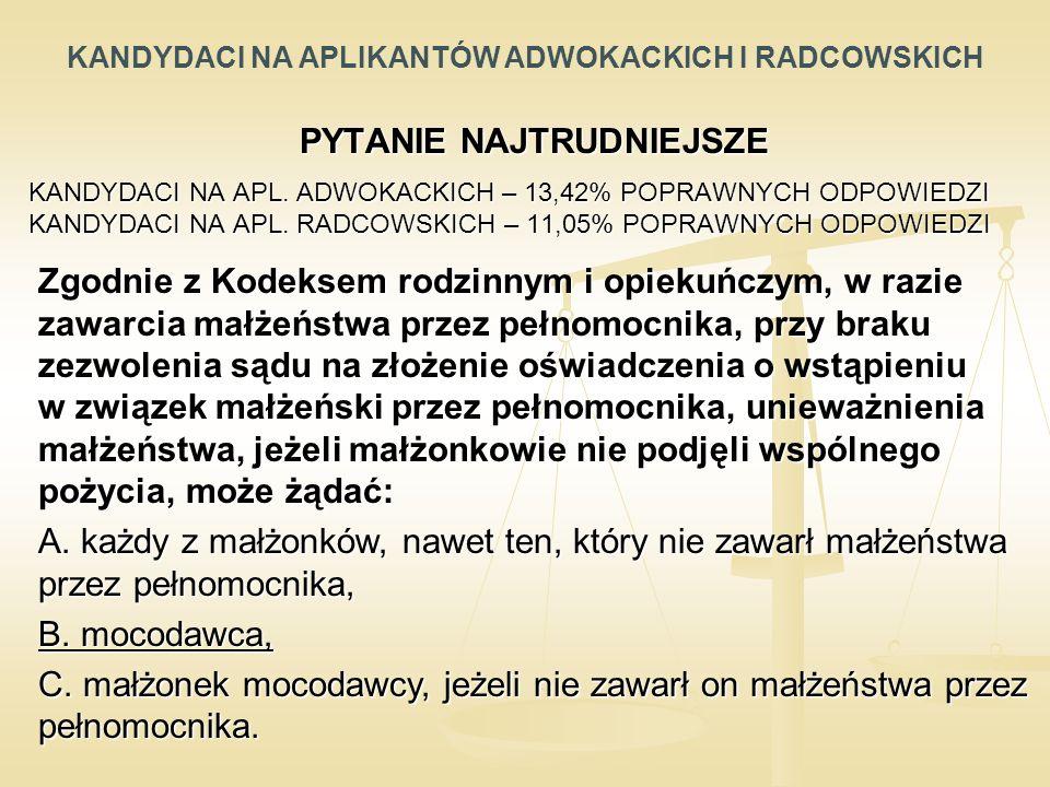 PYTANIE NAJTRUDNIEJSZE KANDYDACI NA APL.