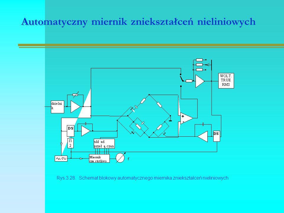 Automatyczny miernik zniekształceń nieliniowych Rys.3.28.