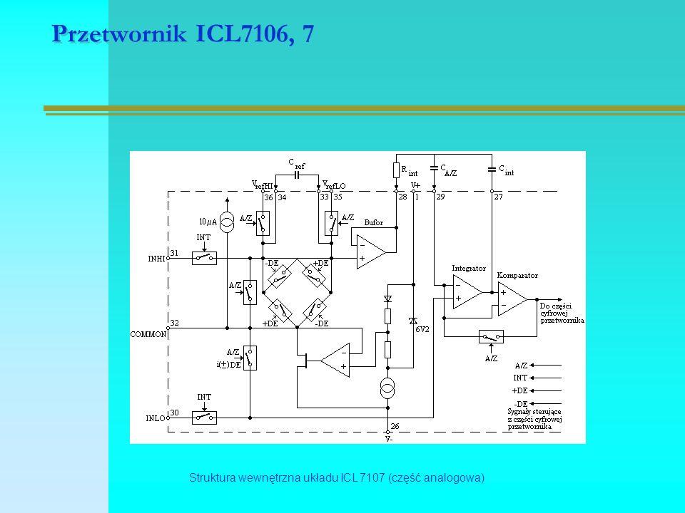 Przetwornik ICL7106, 7 Struktura wewnętrzna układu ICL 7107 (część analogowa)
