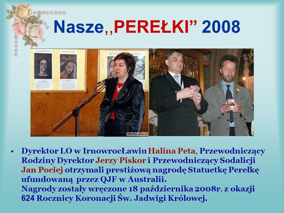 Laureaci Perełek 2007/2008 wśród dorosłych prof. Jan Bruzda, Kraków, prof.