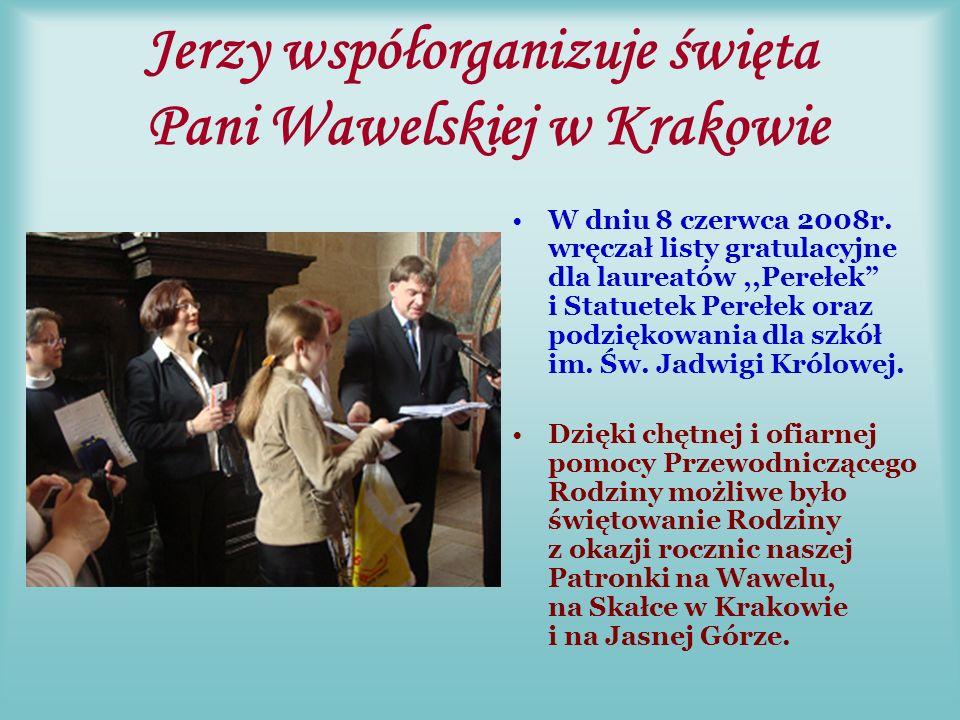 ,,Rodzinne spotkanie Po uroczystej Gali Jerzy zorganizował spotkanie delegacji szkół im.
