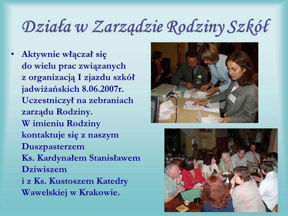 Inicjator powstania Rodziny Wujek był głównym organizatorem I założycielskiego spotkania delegacji szkół w Krakowie i zawiązania się Rodziny.