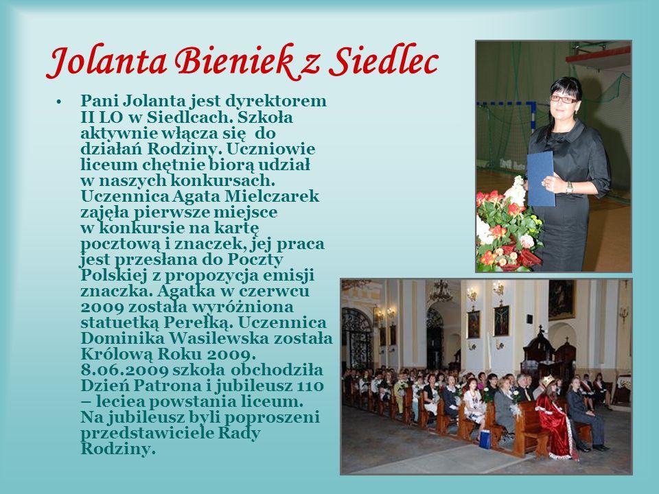 Bogusław Bek Dyrektor Gimnazjum nr 8 w Radomiu (obecnie na emeryturze), członek Rady Rodziny.