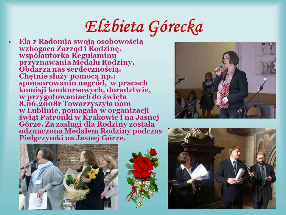 Stanisława Buczek Dyrektor SP w Kaszowie- Wyźrał. Od czasu zjazdu założycielskiego do 07.06.