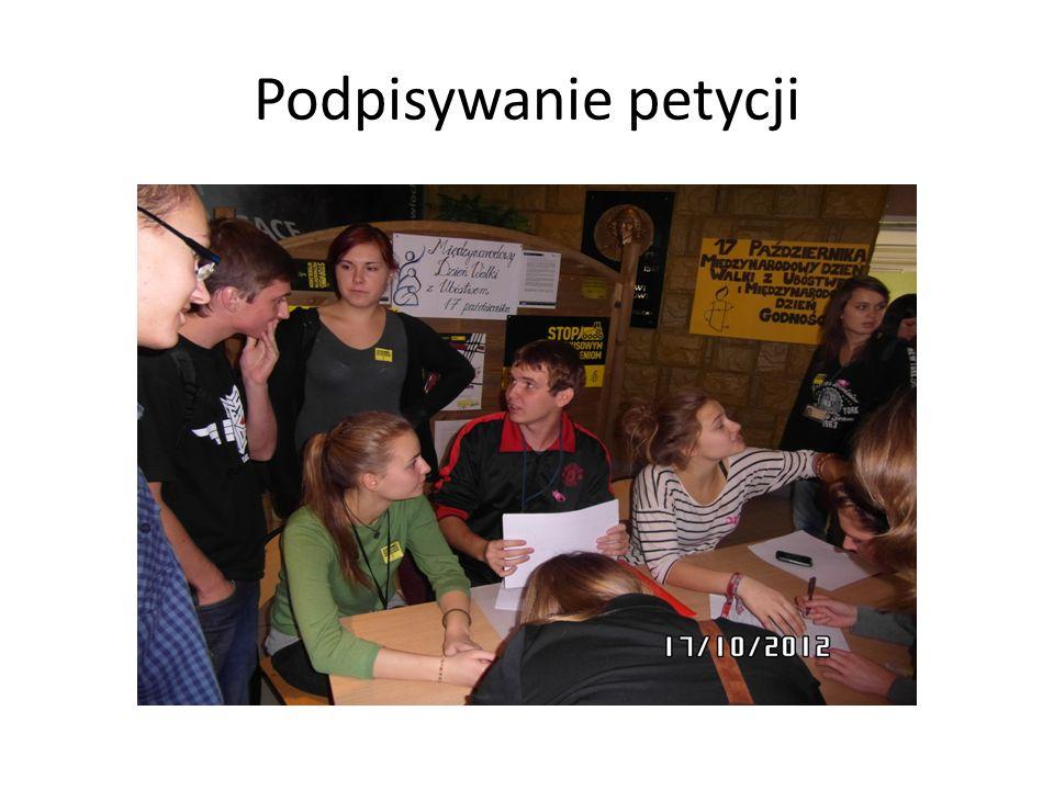 Podpisywanie petycji