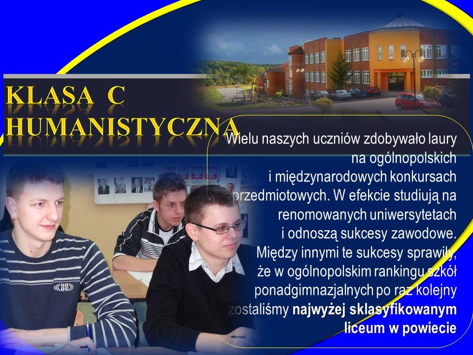 Wielu naszych uczniów zdobywało laury na ogólnopolskich i międzynarodowych konkursach przedmiotowych. W efekcie studiują na renomowanych uniwersytetac