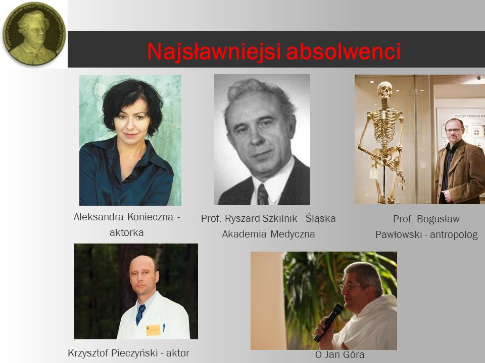 Aleksandra Konieczna - aktorka O Jan Góra Krzysztof Pieczyński - aktor Prof.