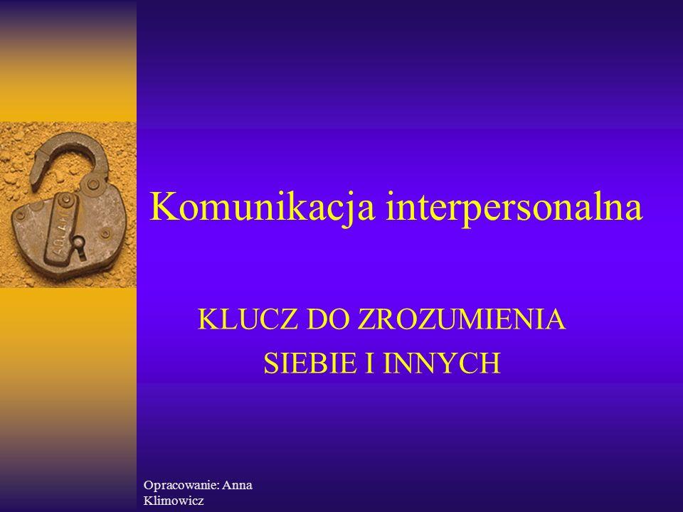 Opracowanie: Anna Klimowicz Jak mówić, by nas słuchano i rozumiano – podstawowe zasady  Bądź świadomy swojego języka ciała i staraj się, aby był on spójny z wypowiadanymi słowami  Dostosuj swój język do możliwości słuchającego  Dostosuj swój sposób przekazywania informacji do stylu komunikacyjnego partnera  Pamiętaj, że to ty jesteś odpowiedzialny za to, by cię słyszano i rozumiano