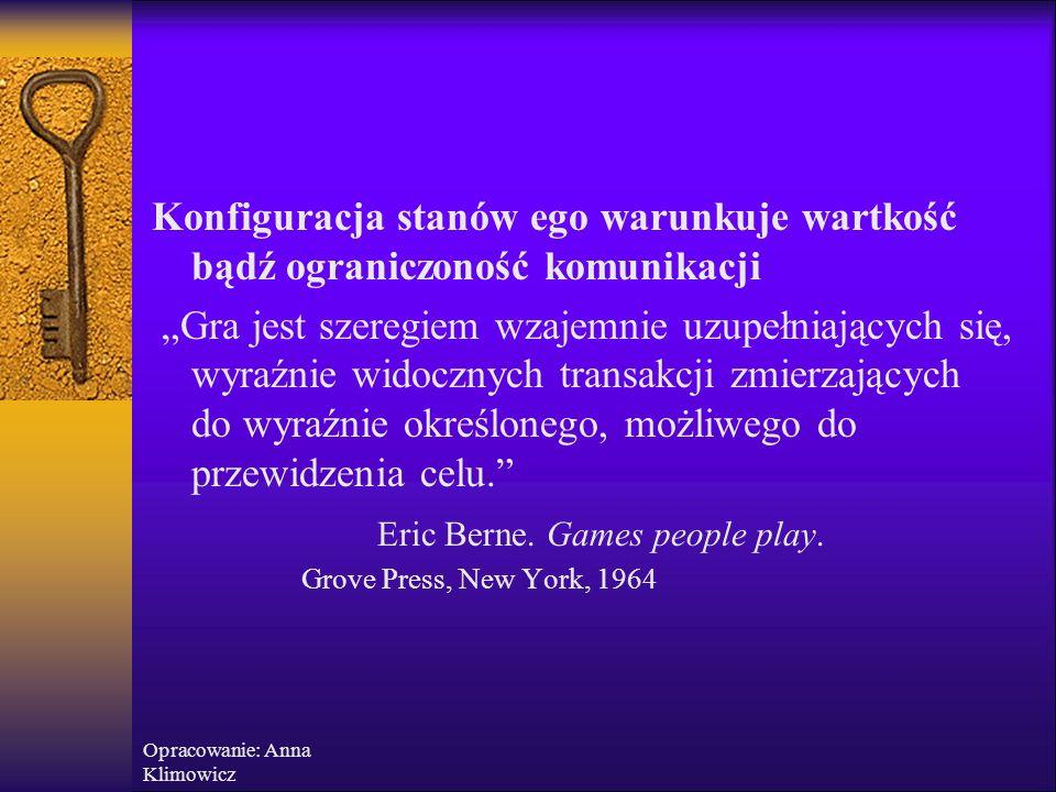 Opracowanie: Anna Klimowicz  7% - słowa  38%-intonacja i rytm głosu  55% - mimika Sens ukrytej transakcji jest zawsze zdeterminowany znaczeniem przekazu na poziomie psychologicznym