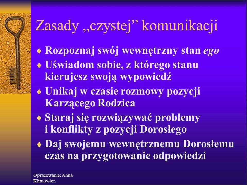 """Opracowanie: Anna Klimowicz Jak sobie radzić z grami?  Trudne sytuacje wymagają często tzw. """"destabilizacji"""", """"sprowokowania kryzysu"""". Warto wysyłać"""