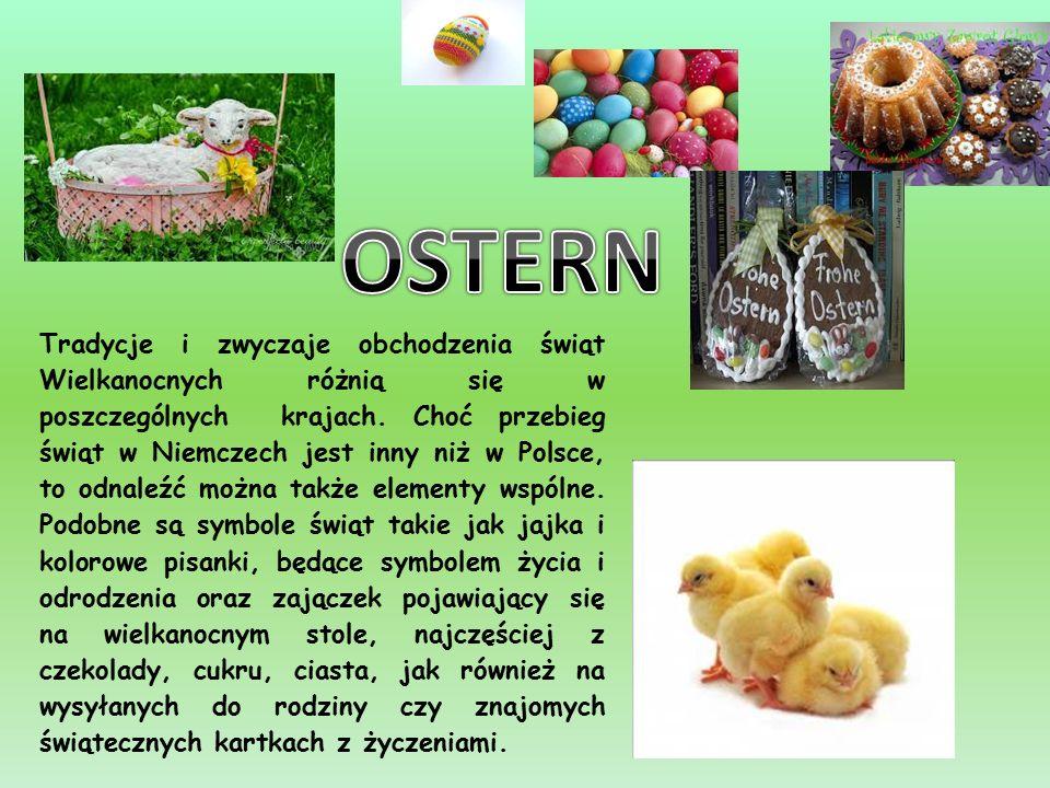 Tradycje i zwyczaje obchodzenia świąt Wielkanocnych różnią się w poszczególnych krajach.