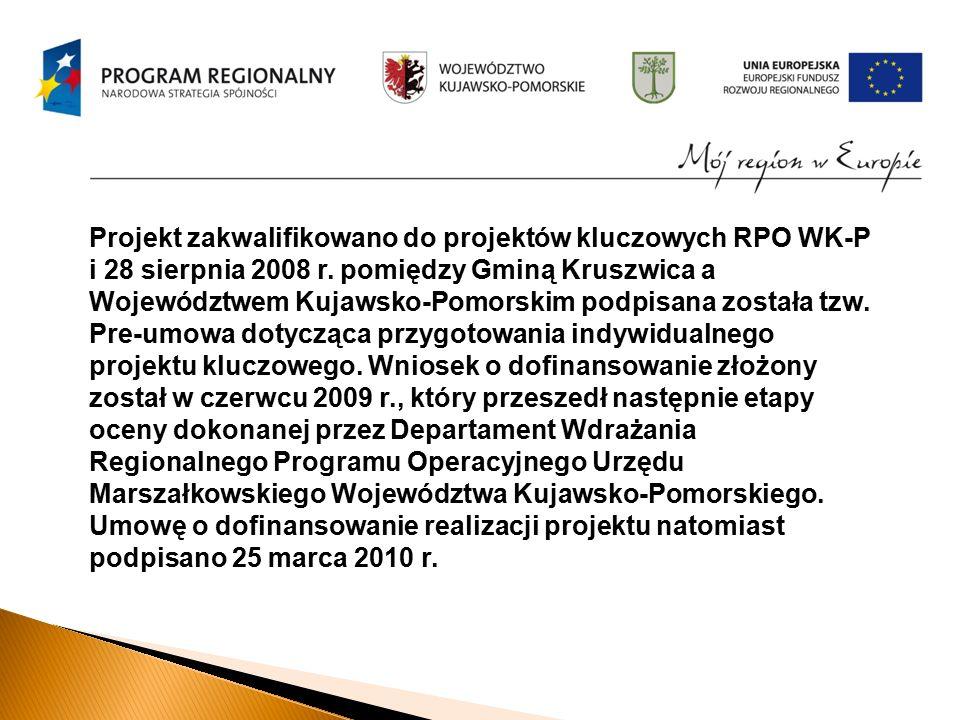 Projekt zakwalifikowano do projektów kluczowych RPO WK-P i 28 sierpnia 2008 r.