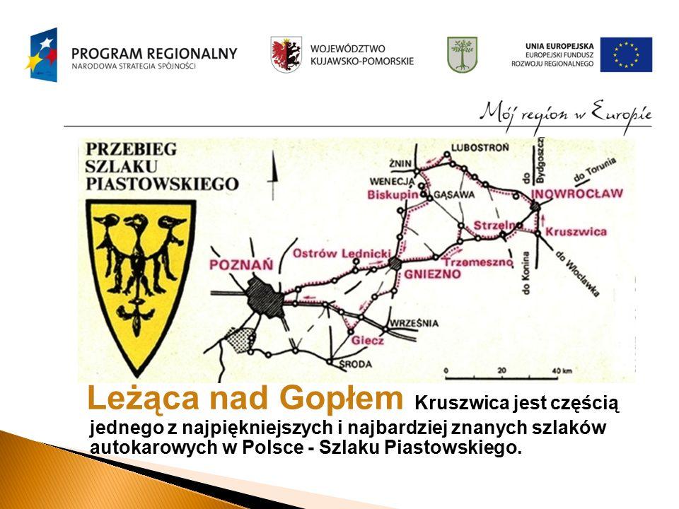Leżąca nad Gopłem Kruszwica jest częścią jednego z najpiękniejszych i najbardziej znanych szlaków autokarowych w Polsce - Szlaku Piastowskiego.