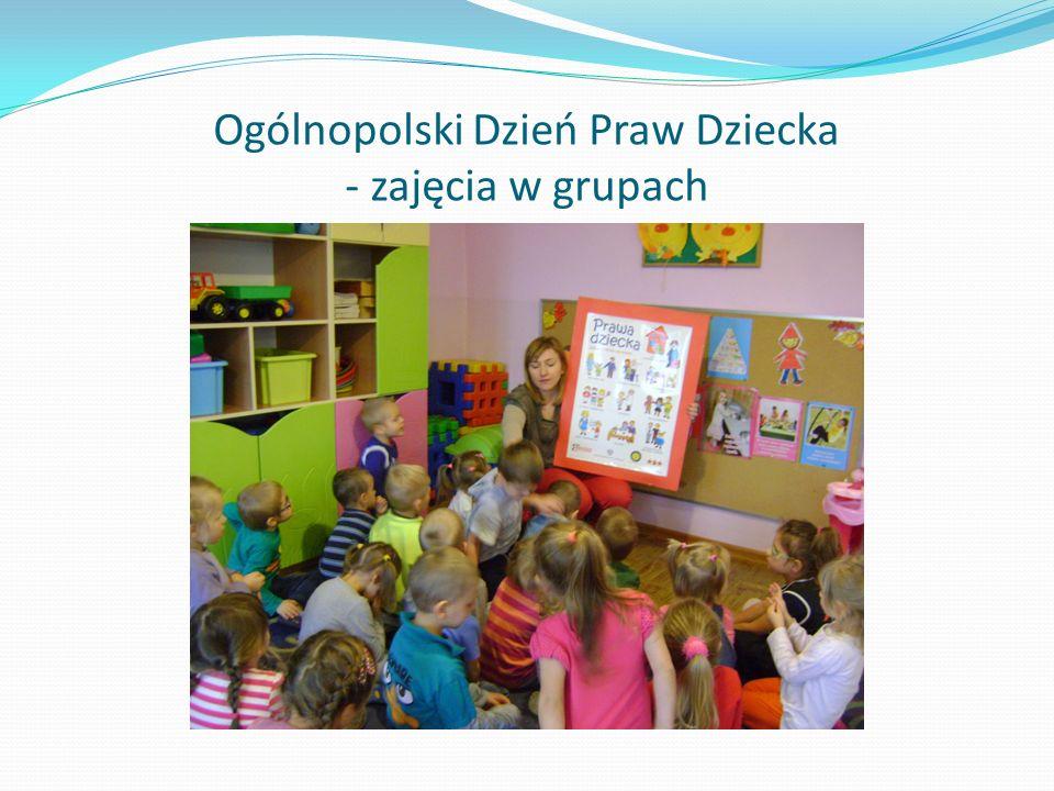 Ogólnopolski Dzień Praw Dziecka - zajęcia w grupach