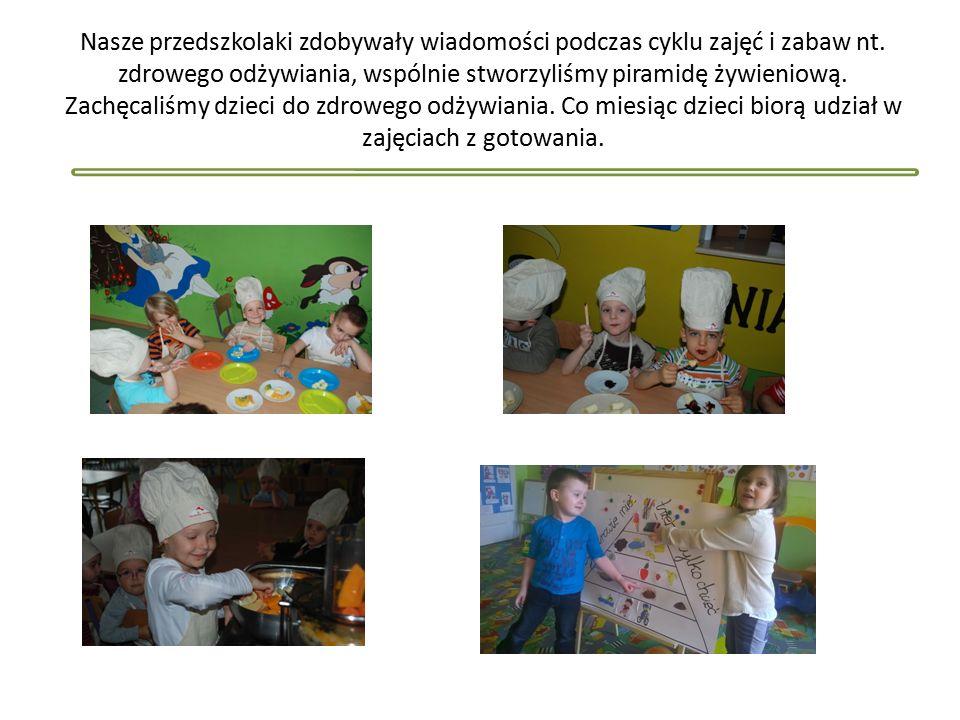 Nasze przedszkolaki zdobywały wiadomości podczas cyklu zajęć i zabaw nt.