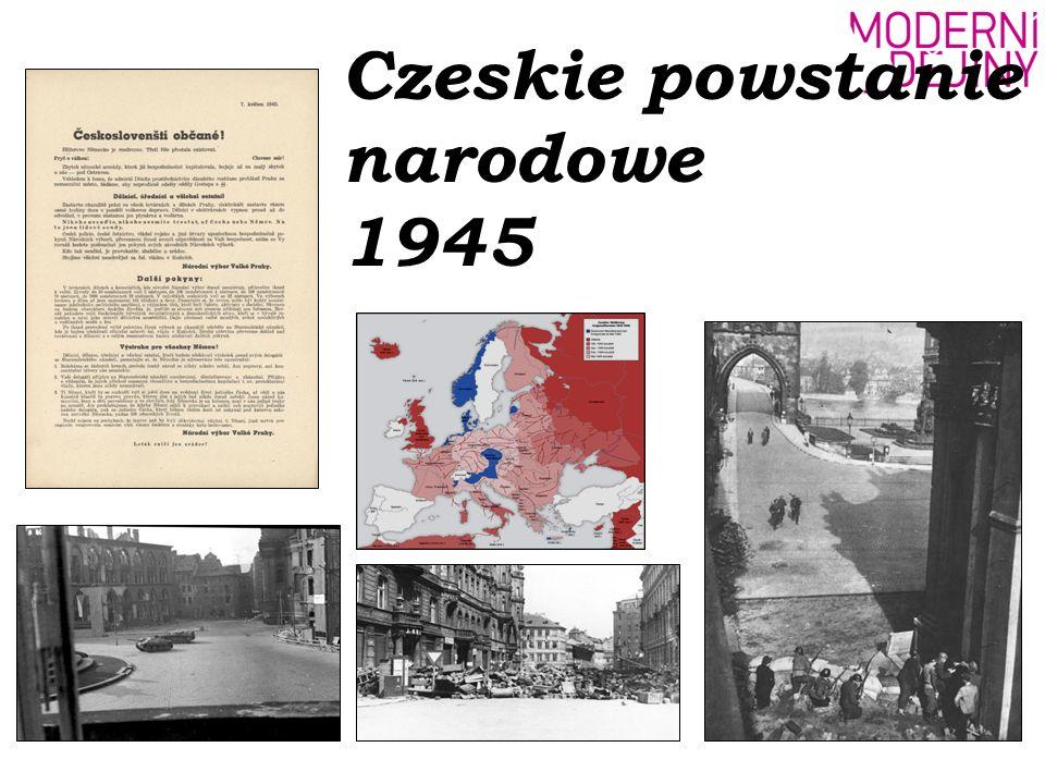 Sytuacja w Protektoracie Czech i Moraw wiosną 1945 -wzrost napięcia -przybywają rzesze niemieckich uciekinierów przed Armią Czerwoną -naloty amerykańskich bombowców oraz ataki partyzantów utrudniały zaopatrywanie armii niemieckiej drogą kolejową -stopniowy rozpad wojska niemieckiego -dezercje -psychoza strachu wśród miejscowych Niemców -wśród obywateli czeskich krążyły wiadomości o zbliżającej się armii amerykańskiej -ludzie wzburzeni marszami śmierci, których trasy prowadziły także przez tereny czeskie (W Pradze pojawił się transport ewakuacyjny z podobozu koncentracyjnego Flossenburg v Litoměřicach.