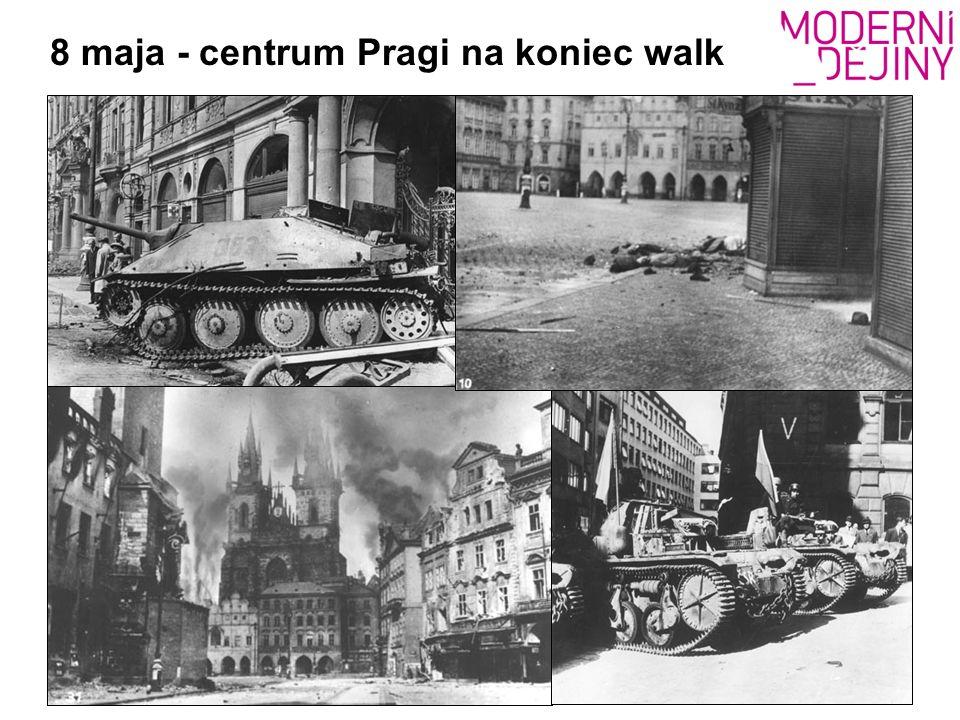 8 maja - centrum Pragi na koniec walk